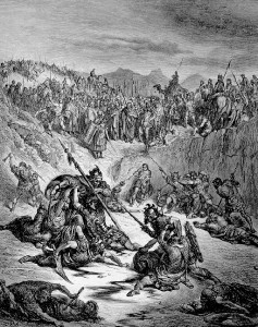 Battle scene with a major duel