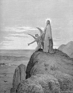 The Lord Jesus being tempted by Satan